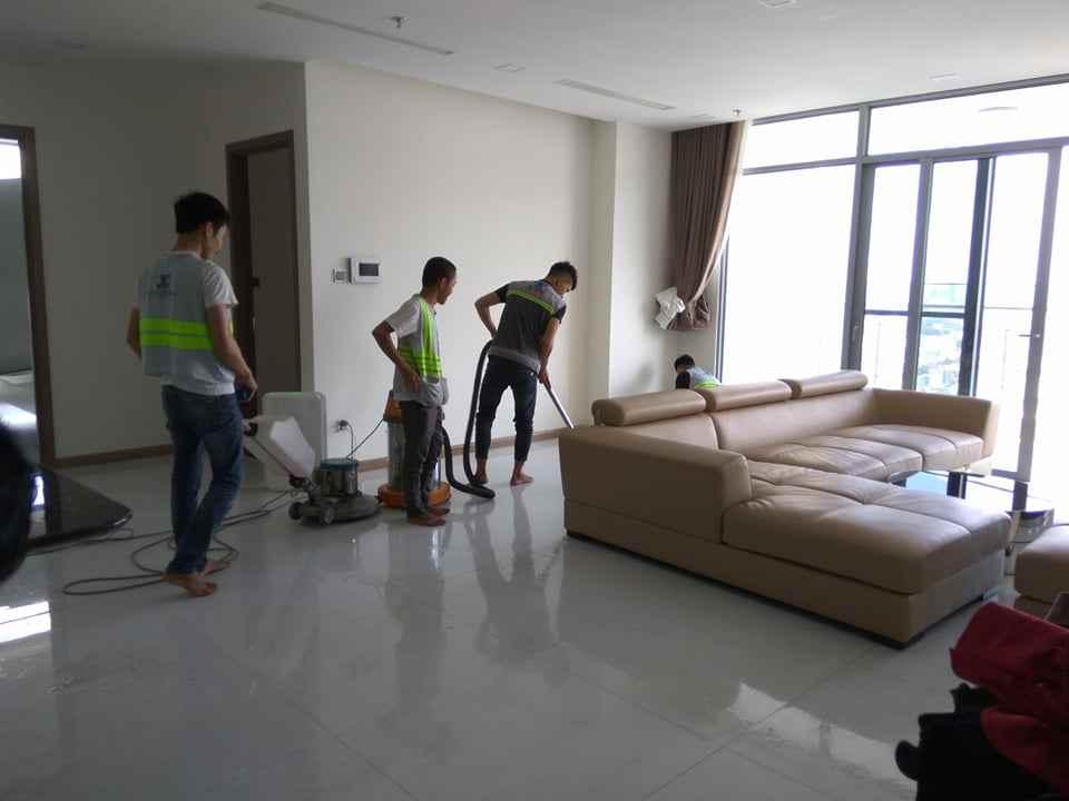 Vệ sinh căn hộ chung cư - vệ sinh sàn