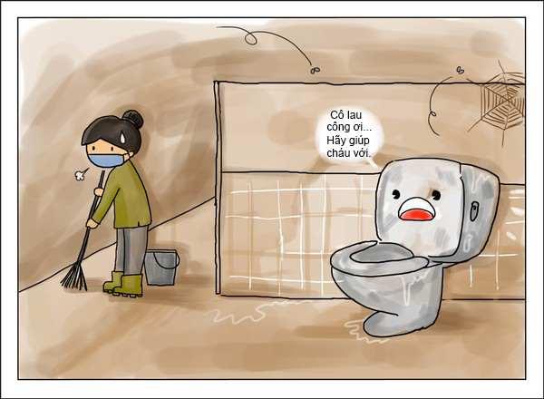 Cách khử vệ sinh hầm cầu