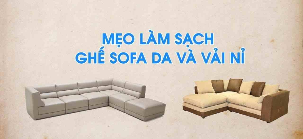 Mẹo vệ sinh ghế sofa siêu sạch