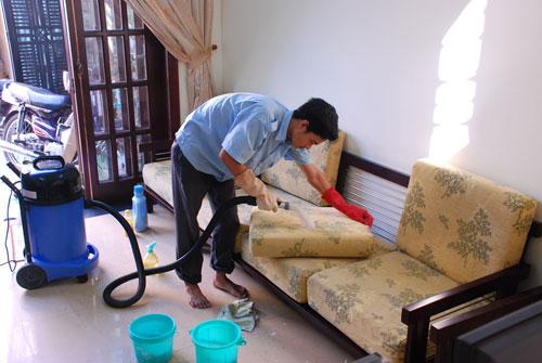 Quy trình vệ sinh phòng khách