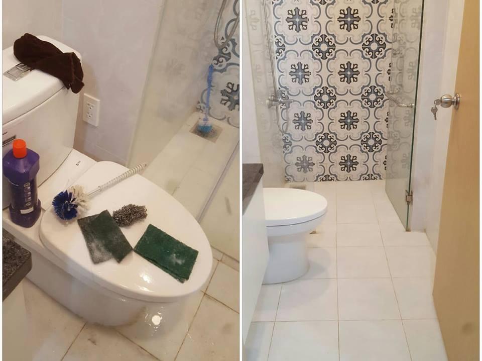 ảnh vệ sinh phòng vệ sinh của dịch vụ vệ sinh GIA ĐÌNH